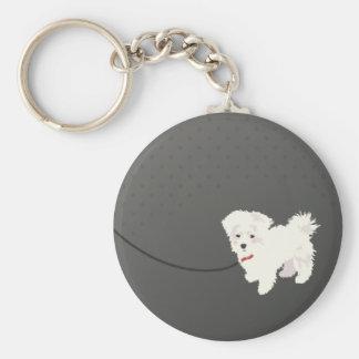 Cute Maltese Dog Keychain