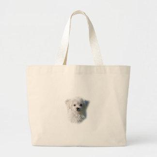Cute Maltese Dog Large Tote Bag