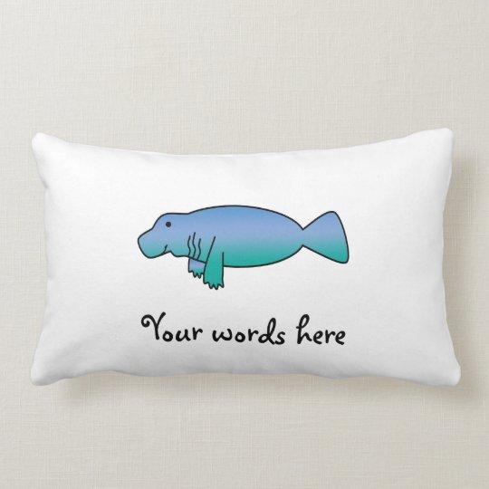 Cute manatee lumbar pillow