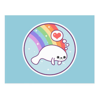 Cute Manatee Postcard