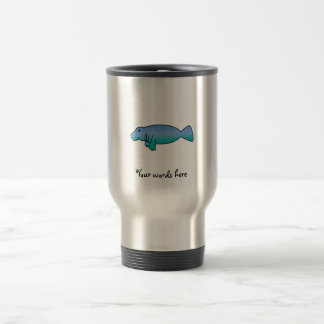 Cute manatee travel mug