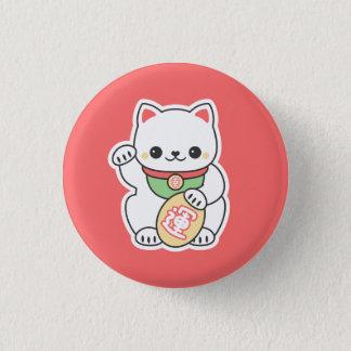 Cute Maneki Neko 1 Inch Round Button