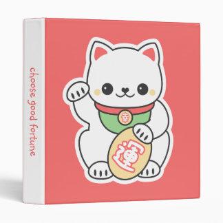 Cute Maneki Neko Vinyl Binders