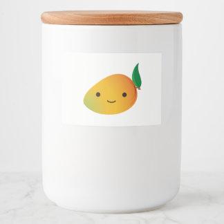 Cute Mango Food Label