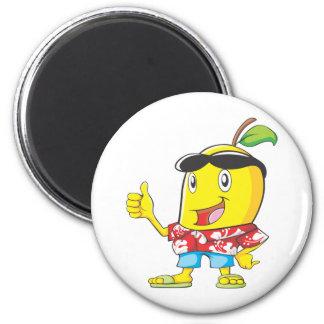 Cute Mango in Hawaiian Shirt Two Thumbs Up! Fridge Magnet