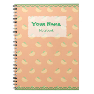 Cute Mango Pattern Notebook
