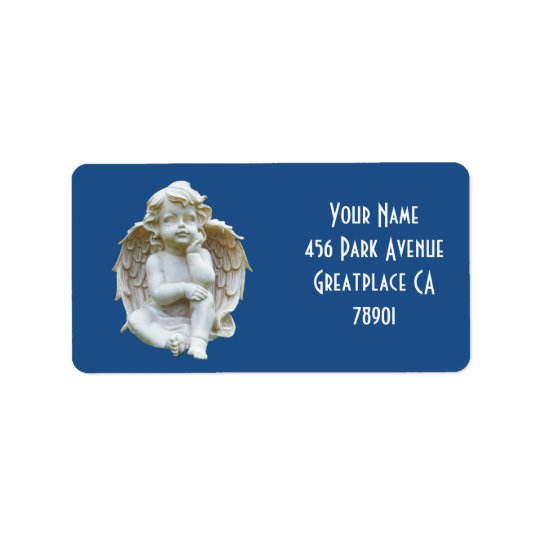 Cute Marble Baby Angel Address Lable
