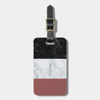 Cute marble luggage tag