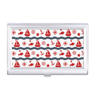 Cute Maritime Pattern Business Card Cases