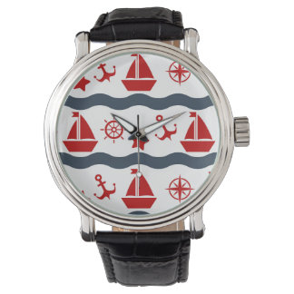 Cute Maritime Pattern Wrist Watches