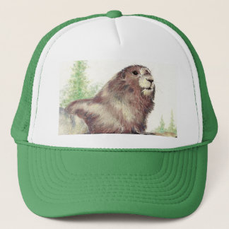 Cute Marmot, Nature, Wildlife, Animal Trucker Hat