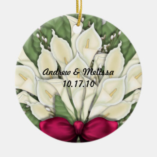 Cute Married Our First Christmas Ceramic Ornament