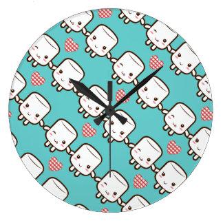 Cute Marshmallow couple Clock