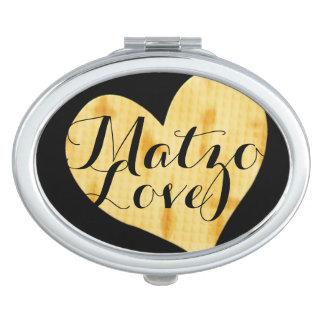 Cute Matzah Appreciation Saying Travel Mirror