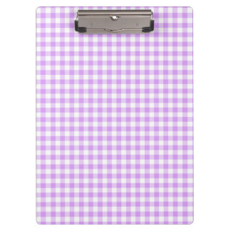 Cute Mauve Purple and White Gingham Clipboard