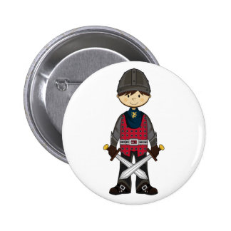 Cute Medieval Knight Badge 2 Inch Round Button
