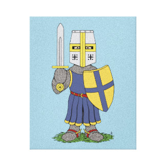 Cute Medieval Knight Canvas Print