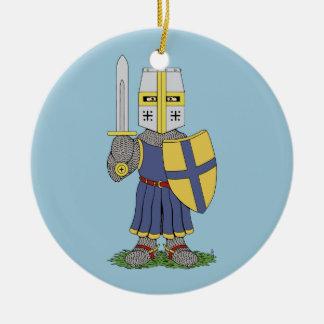 Cute Medieval Knight Ceramic Ornament