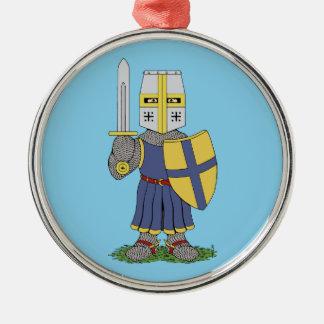 Cute Medieval Knight Metal Ornament