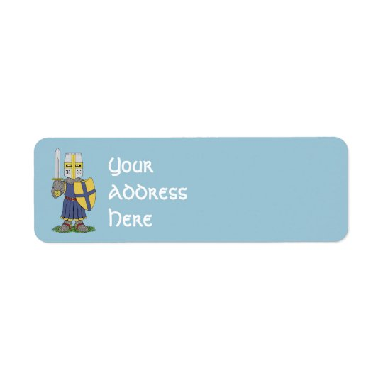 Cute Medieval Knight Return Address Label