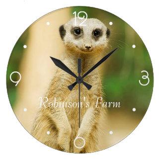 Cute Meerkat Large Clock