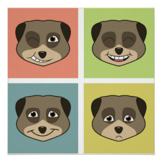 Cute meerket expressions. perfect poster