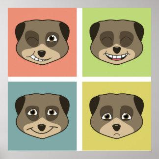 Cute meerket expressions. poster