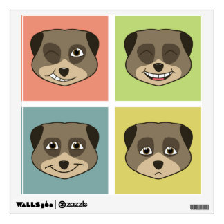 Cute meerket expressions. wall decal