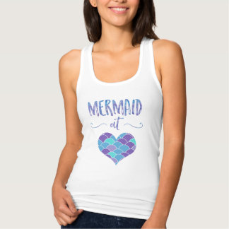 Cute Mermaid at Heart Women's Tank Top