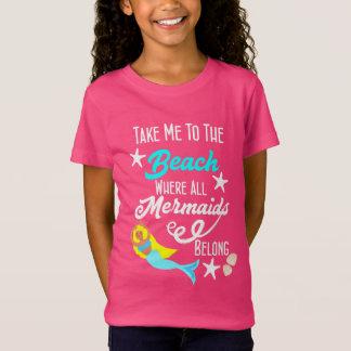 Cute Mermaid  Beach Themed Slogan Graphic T-Shirt