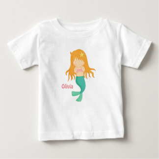 Cute Mermaid Girl For Baby Girls Baby T-Shirt