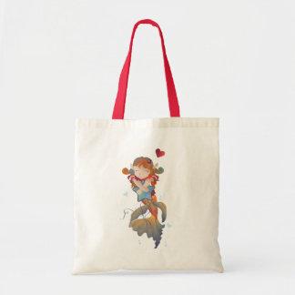 Cute Mermaid Hugging a Pillow Tote Bag