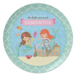 Cute Mermaid Plate