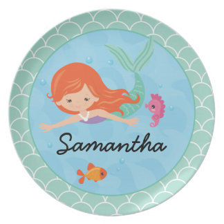 Cute Mermaid Plate