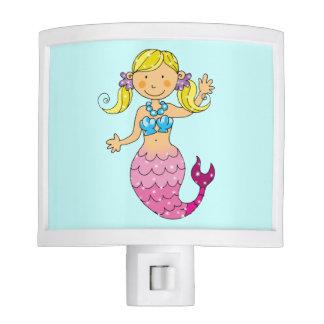 cute mermaid princess (blonde hair) night lite