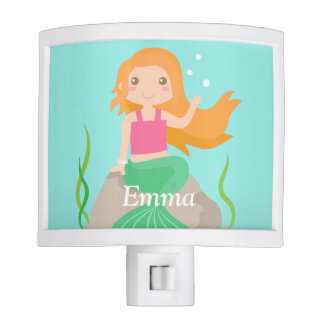 Cute Mermaid under the sea, for Girls Room Nite Lite