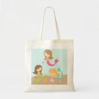Cute Mermaids under the sea Tote Bag