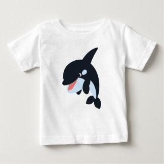 Cute Merry Cartoon Killer Whale Baby T-Shirt