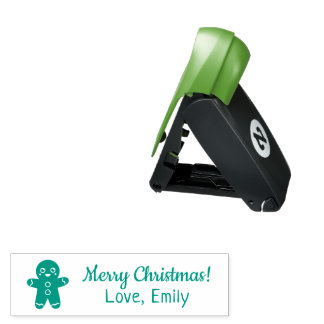 Cute Merry Christmas Gingerbread Man Pocket Stamp