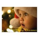 Cute Merry Christmas Script Holiday Photo Card