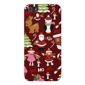 Cute Merry Christmas Xmas Holiday Pattern iPhone 5 Cases