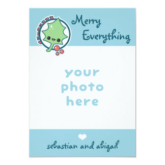 Cute Merry Everything Holiday Photo Card