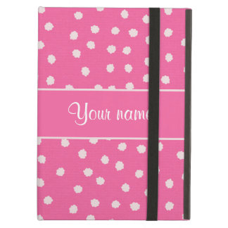 Cute Messy White Polka Dots Pink Background Case For iPad Air