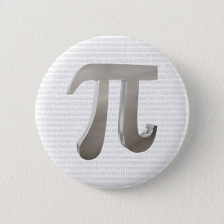 Cute metal pi character 2 inch round button