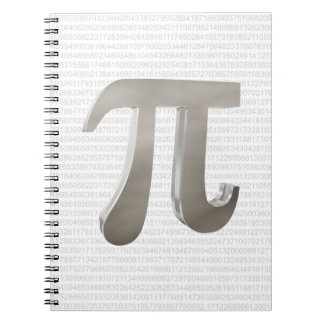 Cute metal pi character notebook