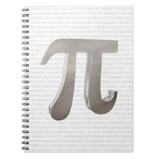 Cute metal pi character notebook