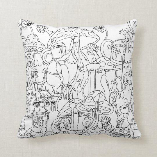 cute mice and mushroom cushion design