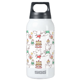 Cute Mice Bakery Chef Drawing Insulated Water Bottle