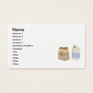 Cute Milk and Cookies Business Card