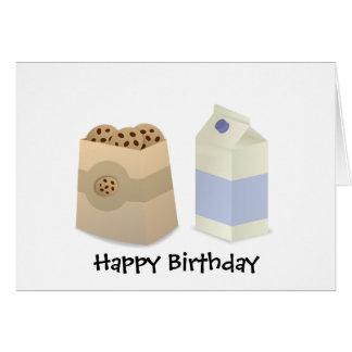 Cute Milk and Cookies Card